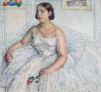 Portrait of the Singer Pierrette Fromentin by Georges Morren (1925)